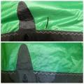 Opravy plachet a kitů Trhlina v látce