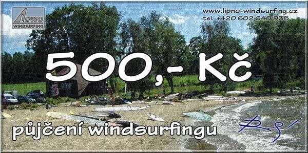 Poukaz na kurz / půjčovné windsurfingu Lipno Windsurfing