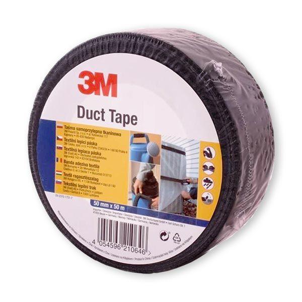 Lepicí páska 50m x 5cm 3M Duct Tape černá